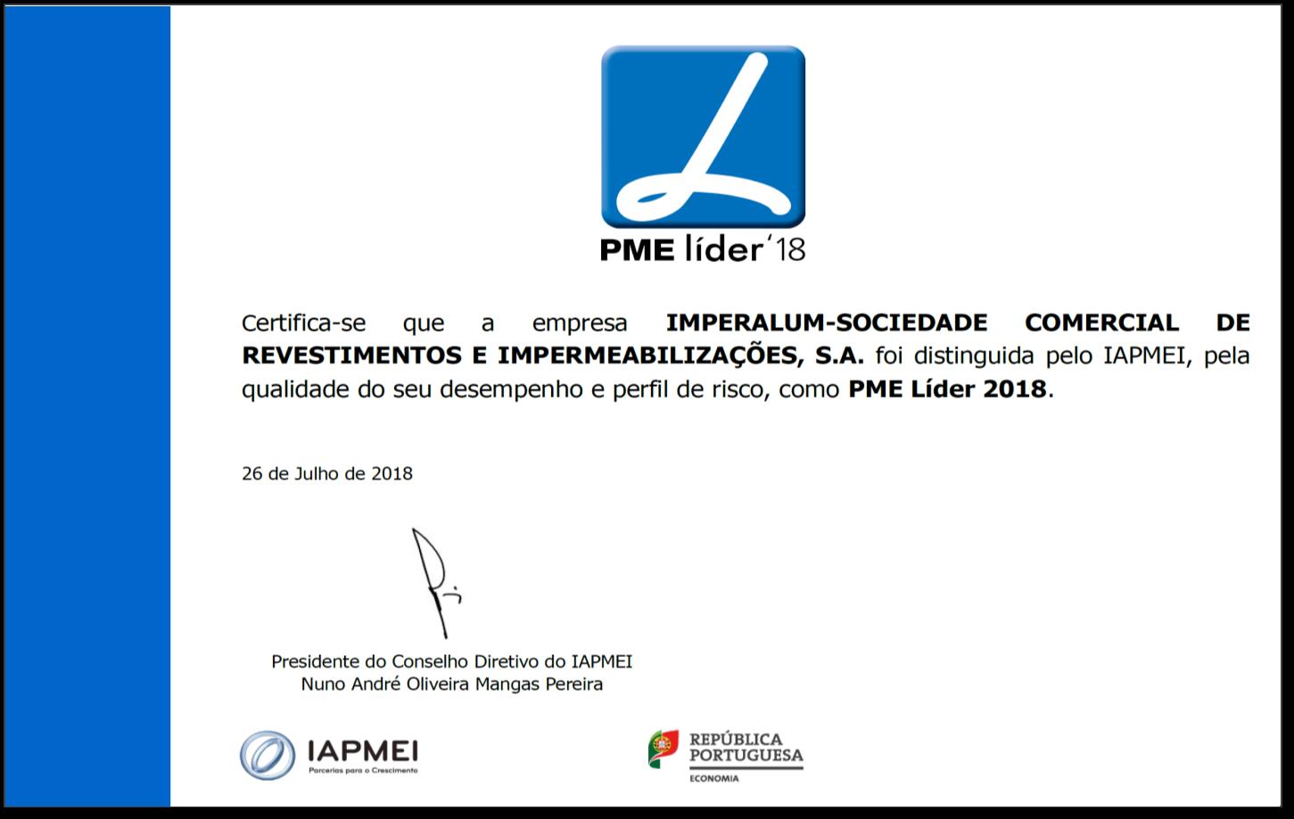 Imagem notícia PME LIDER 2018