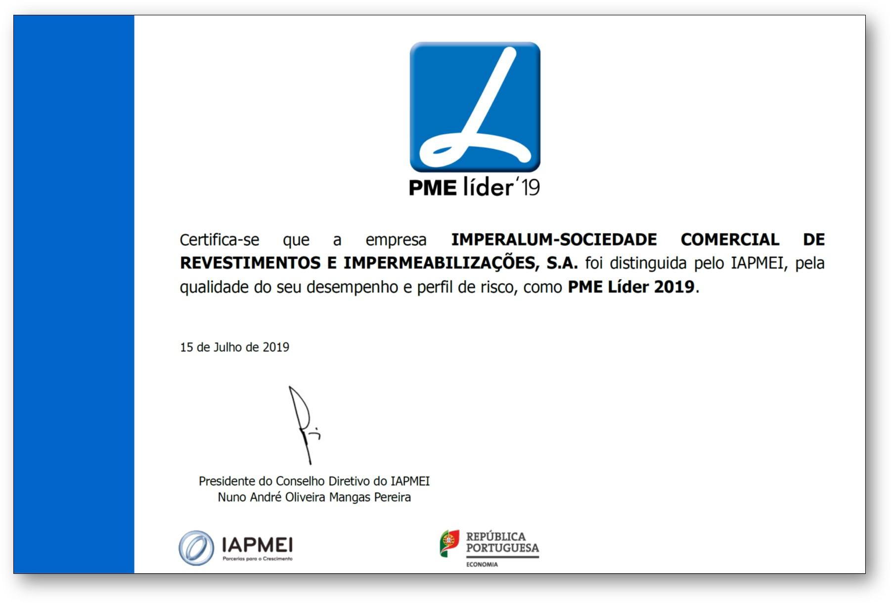Diploma PME Líder 2019
